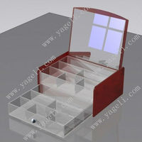 modern and stylish Acrylic Large Jewellery Box with compartments for storage