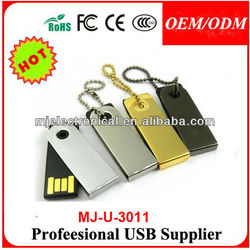 Full Capacity Promo Gift Metal Swivel Usb 2.0 Enough Memory Stick Thumb Twist Pendrive Customize