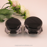 cosmetic skin care products packaging plastic jar screw lid
