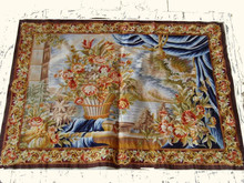 100% silk embroidery and 100% cotton back french style wall hanging and tapestry