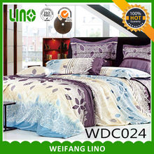 2014 new product 300 Thread Cotton Printed Bedding Set,4 Piece,Pigment Printing