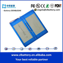 Li-polymer Type and Prismatic battery 36x69x139mm Size lipo battery 3.7v tablet pc battery