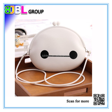 New arrival silicone shoulder bag white color silicone bag