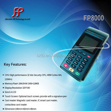 Fp8000 tarjeta de débito tarjeta de crédito skimmer terminal pos de mano con integrado impresora