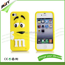Hottest 3D cartoon cute M&M silicone cell phone case cover for iphone 6