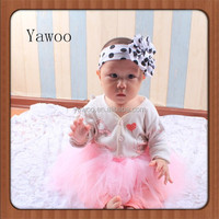 Baby Cotton Frock Girls Children Bow Polka Dots Lighted Christmas Hairbands Headbands for Girls Accessories