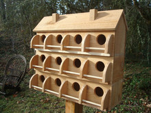 PURPLE MARTIN BIRD HOUSE WITH 12 COMPARTMENTS MADE OF WESTERN RED CEDAR* BIRDS