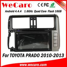 Wecaro Android 4.4.4 car dvd player quad core for toyota prado audio steering wheel control tv tuner 2010 - 2013