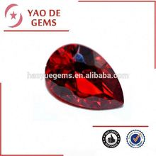 Pear Shape 8*12mm Red Garnet Stone Cubic Zirconia Garnet Jewelry/bead wholesale