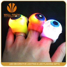 Eyeball-shaped Flashing LED Ring,Finger LED Ring for Crazy Halloween Parties with Stuff Price on Sale