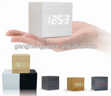 Newest portable carpet digital LED wooden alarm clock