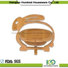 wholesale China import rabbit shape Bamboo Basket For Food&Fruit