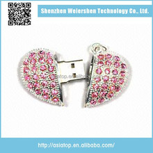Cheap Price Heart Shape Pendrive 16gb for Valentine's Day Gift