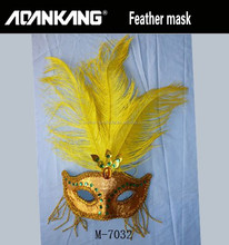 Feather ornaments feather mask party mask halloween mask