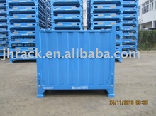 Heavy duty foldable steel container stacker
