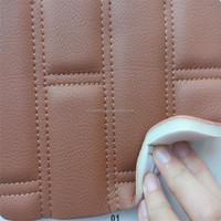 Bus/Train/Car interior decorative microfiber pu leather with foam backing HX949