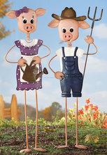 Agricultor cerdo Garden Stake jardín decoración promoción
