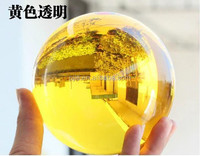 topaz 60mm golden yellow crystal glass ball for Arts decoration