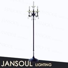 modern new design antique black crystal chandelier light covers floor lamp with e14 light bulb