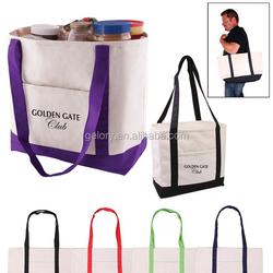 Heavy 14oz Cotton Canvas Multi Color Boat Tote Bag Cavans shopping bag