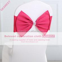 rose new model high quality hot selling fashion wedding chair sash