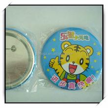 tinplate tin badge button/safety pin /matel badge for children