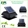Solar power exhaust fan mounted on the roof