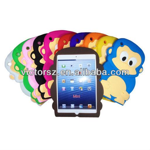 Для iPad мини обезьяна чехол, Силиконовой резины чехол