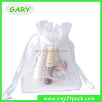 White Organza Gift Bags/wine Bottle Pouch/silk Organza Bags