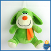 sitting plush toys big eyes smiling face green dog doll with scarf