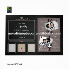 multi functions funny photo frame with chalk board to leave message