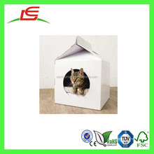 Q1411 China Wholesale Small DIY Foldable Recycled Cardbord Pet House In Guangdong