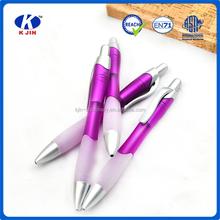 2015 hot venta <span class=keywords><strong>promocional</strong></span> púrpura a prensa un bolígrafo para niños de la escuela y oficina