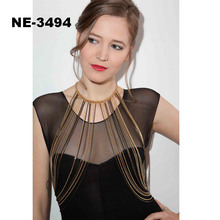 Europe and the United States foreign trade exaggerated multi-layer body chain dress
