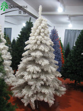 Popular Artifical christmas tree white flocked snowing christmas ornament tree