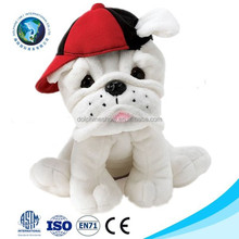 2015 Top selling white french bulldog soft toy dog plush toy fashion cute soft bulldog plush stuffed dog