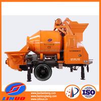 Linuo C3 trailer mounted concrete mixer, concrete mixer wheel, concrete mixer self loading