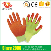 Hot Selling Knitting Cuffs 10G Nylon Lining Industrial Latex Glove with CE