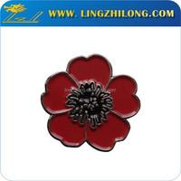 Custom design flower lapel pins for men