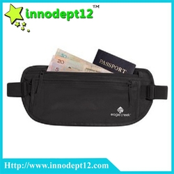 Best selling 70D Nylon waist belt, waist running money bag with RFID belt