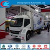 4*2 Dongfeng refrigerated cargo trailer Live Fish Transport 180HP referigerated box van