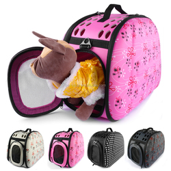 Wholesale 4 Colors High End Fabric Portable Side Open Dog Carry Bags