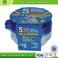 Wholesale new age products clear plastic round deli container