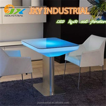 Factory Supply Plastic PE RGB Color Changing Led Bar Table/Led Table/Led Furniture Led Table Led Chairs