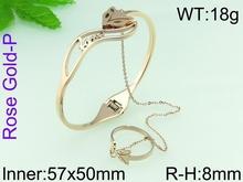 High quality 2015 hot design champagne gold bracelet