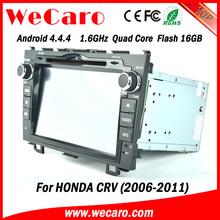 "Wecaro android 4.4.4 car dvd player high quality 8"" for honda crv car dvd gps navigation Steering Wheel Control 2006 - 2011"