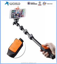 Nuovi prodotti wireless 2015 monopiede selfie bastone, bluetooth monopiede selfie bastone, macchina fotografica senza fili bluetooth monopiede