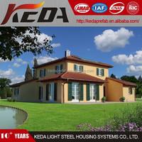 steel metal frame pre-constructed villa garden prefab house