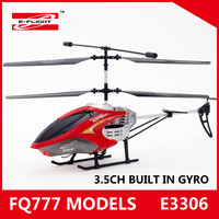 E3306 3.5Ch Super Strong Radio Control Helicopter With Gyro Unbreakable Superior Quality Rc Toys