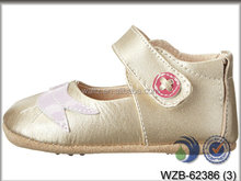 New designs girls sandals bow Genuine Leather baby shoes First Walkers Toddler newborn baby